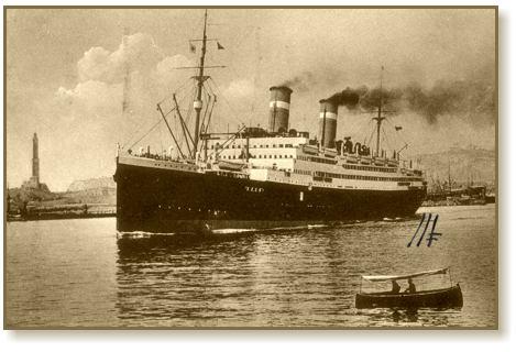 Nave Conte Rosso anno 1914