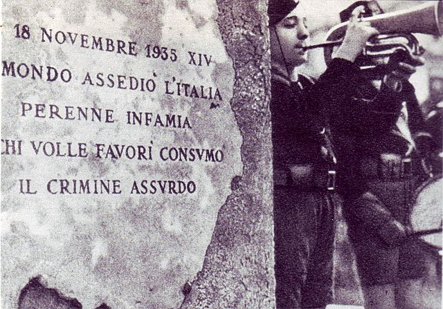 Lapide Sanzioni anno 1935