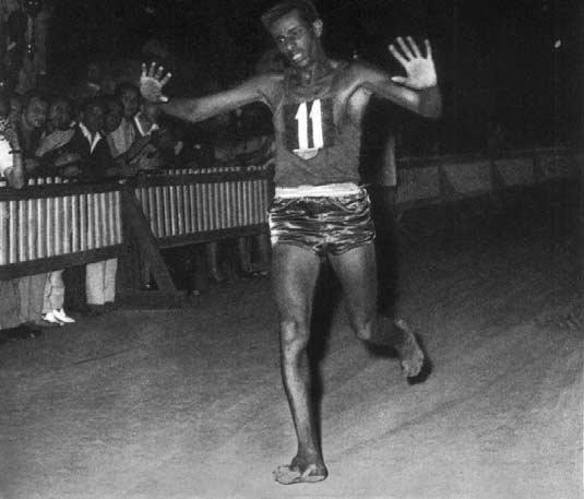 Abebe Bikila Roma anno 1960