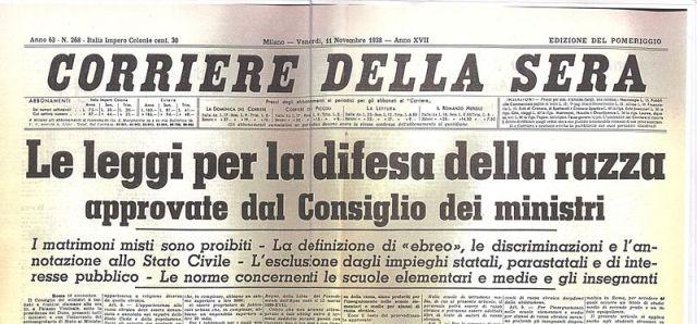 Dal Corriere della Sera dell'anno 1938