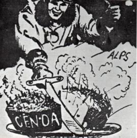 Genova bombardata