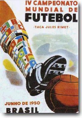 Manifesto Coppa Rimet Brasile 1950
