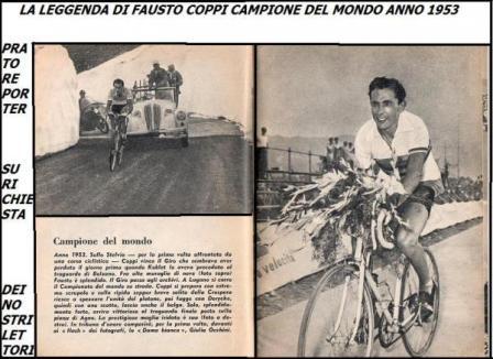 Fausto Coppi Campione del Mondo anno 1953