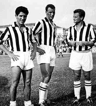 Omar Sivori, John Charles e Giampiero Boniperti