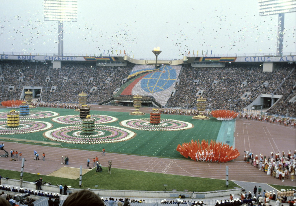 Anno 1980: cerimonia olimpica a Mosca