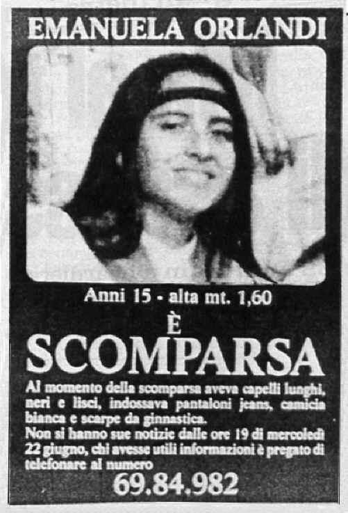 Manifesto Emanuela Orlandi anno 1983