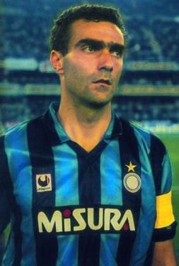 Giuseppe bergomi Capitano Inter dei Record anno 1989